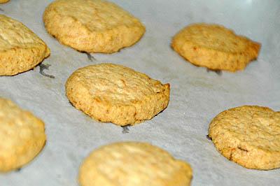 Garlic & Parmesan Cookies - After Baking