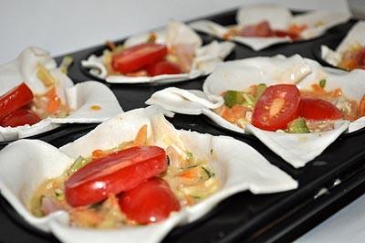 Bacon & Zucchini Pies - Prepare in non stick tray