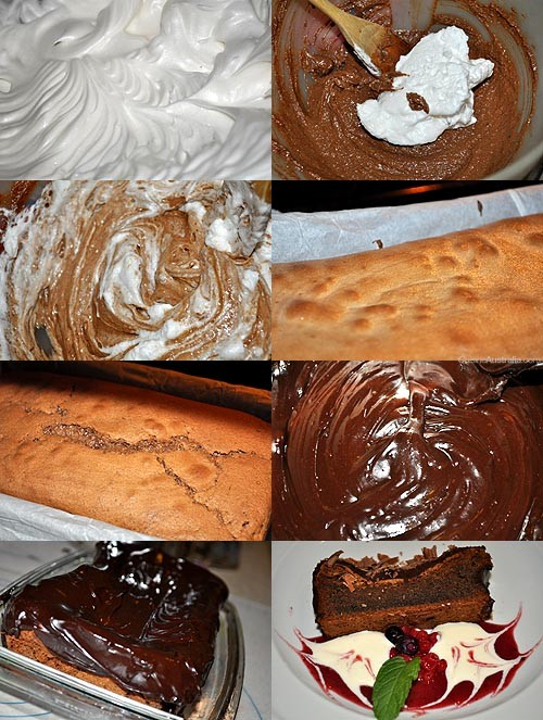 Flourless Mocha Mudcake - the steps