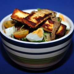 Haloumi Egg & Pork Salad