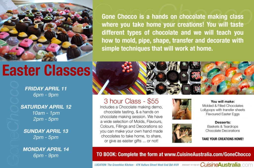 Gone Chocco Easter Classes