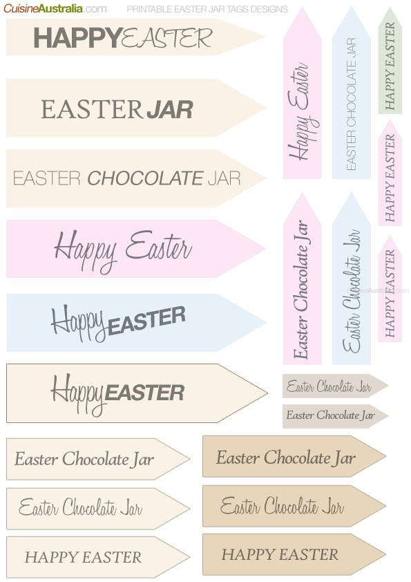 Tags for Easter Jars
