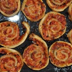 Salami Pizza Scrolls