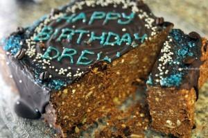 Protein Slice Birthday Cake