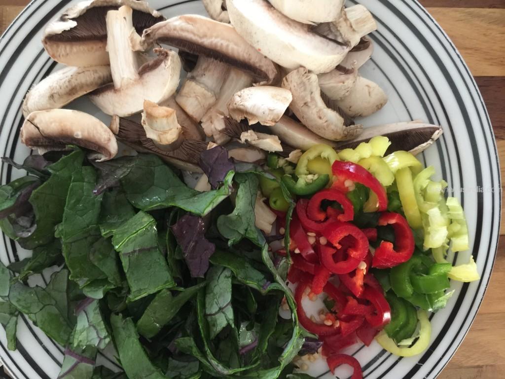 Mushroom Fry Up Ingredients