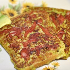 Pesto French Toast with Ham